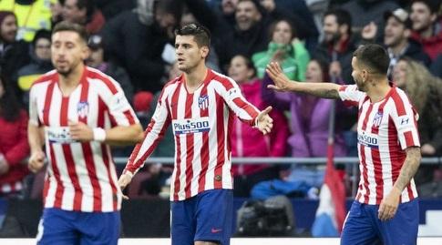אלברו מוראטה חוגג עם אנחל קוראה (La Liga)