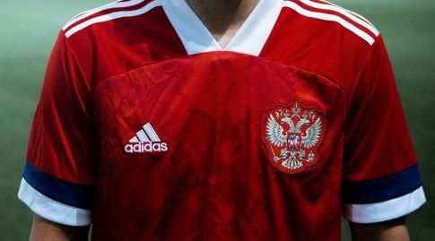 החולצה של נבחרת רוסיה (צילום מסך)
