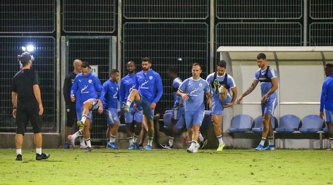 שחקני נבחרת ישראל באימון (איציק בלניצקי)