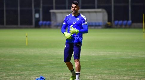 אריאל הרוש באימון נבחרת ישראל (חגי מיכאלי)