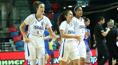 טל לב ושחקניות נבחרת ישראל (שחר גרוס)