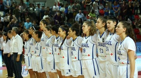 שחקניות נבחרת ישראל בכדורסל נשים (שחר גרוס)