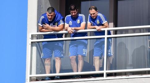 אנשי הצוות של ארגנטינה במלון הילטון בתל אביב (חגי מיכאלי)