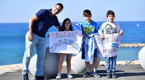 אוהדי נבחרת ארגנטינה בתל אביב (חגי מיכאלי)