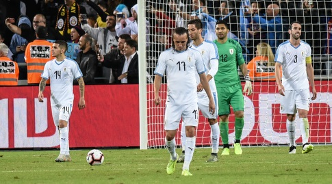 שחקני נבחרת אורוגוואי מאוכזבים (נעם מורנו)