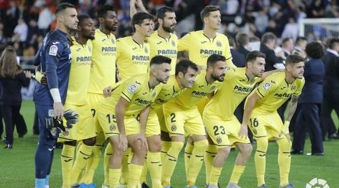 שחקני ויאריאל לפני המשחק (La Liga)