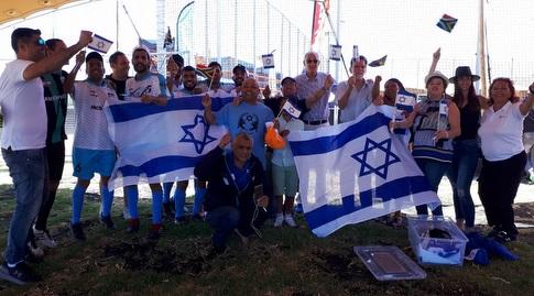 הנבחרת והקהילה היהודית בקייפטאון (גיא עגיב)