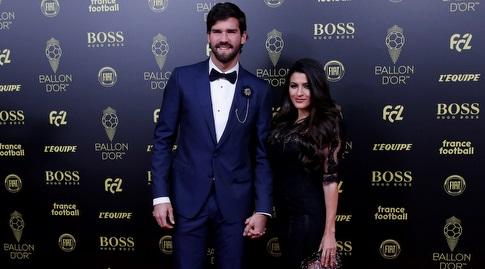 אליסון וזוגתו בטקס כדור הזהב (רויטרס)