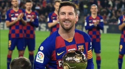 ליאו מסי עם כדור הזהב (La Liga)
