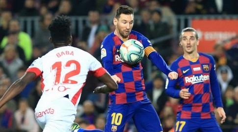 ליאו מסי משתלט על הכדור (La Liga)