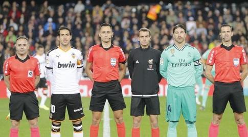 סרחיו ראמוס ודני פארחו לפני המשחק (La Liga)