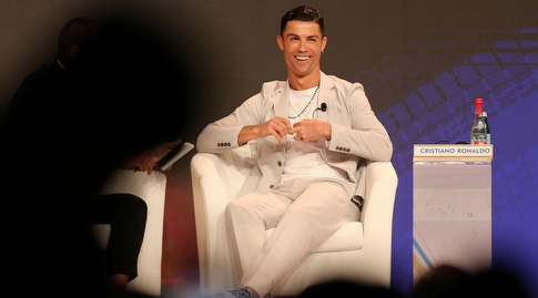 כריסטיאנו רונאלדו במהלך הראיון (רויטרס)