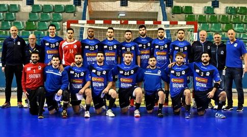 נבחרת ישראל בניקוסיה במשחק מול קפריסין (באדיבות התאחדות הכדוריד בקפריסין - Marinos Markides)