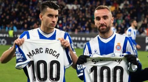 טקס 100 ההופעות למארק רוקה וסרג'י דרדר (La Liga)