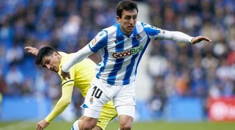מיקל אויארסבאל חולף על ג'רארד מורנו (La Liga)