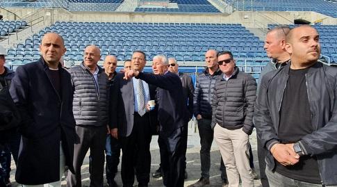 ראש העיר משה לאון ואנשי העירייה בסיור בטדי (דוברות עיריית ירושלים)