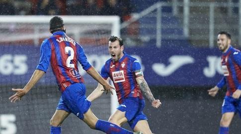 אסטבן בורגוס חוגג (La Liga)