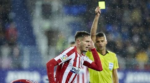סאול ניגס קיבל את הכרטיס הצהוב (La Liga)