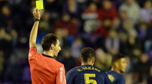 רפאל וראן מקבל כרטיס צהוב (La Liga)