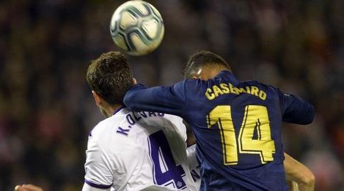 קאסמירו וקיקו אוליבאס במאבק אווירי (La Liga)