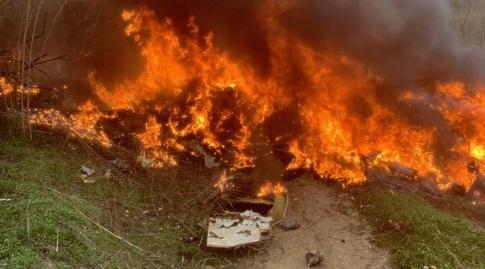 המסוק של קובי בראיינט עולה באש (מערכת ONE)