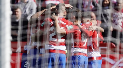 שחקני גרנאדה חוגגים (La Liga)