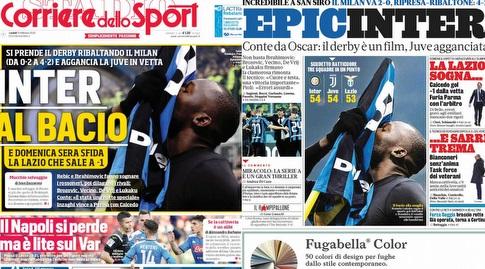 כותרות העיתונים באיטליה (צילום מסך)