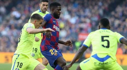 סמואל אומטיטי עם הכדור (La Liga)