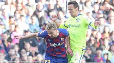 פרנקי דה יונג שומר על הכדור (La Liga)