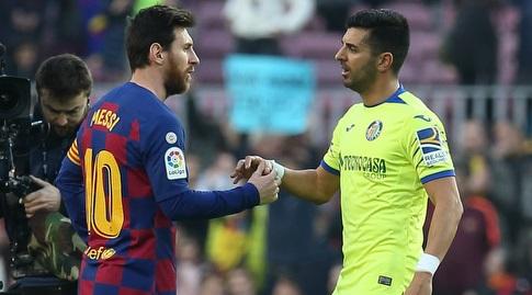אנחל עם ליאו מסי (La Liga)