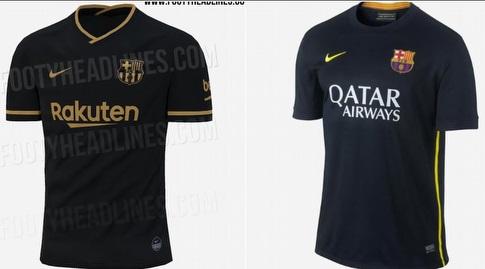 חולצת החוץ של ברצלונה בעונת 2013/14 בהשוואה לעונה הבאה (צילום מסך מ-Footy Headlines)