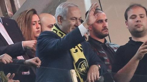 ראש הממשלה בנימין נתניהו ביציע בטדי (רדאד ג'בארה)