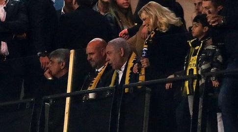 ראש הממשלה בנימין נתניהו ביציע בטדי (אורן בן חקון)