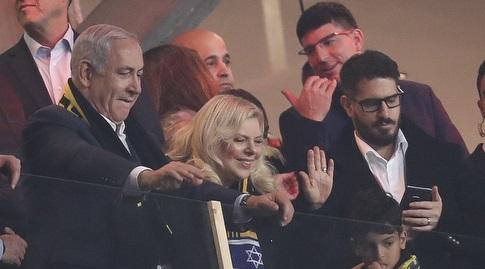 משה חוגג, שרה נתניהו וראש הממשלה בנימין נתניהו בטדי (רדאד ג'בארה)