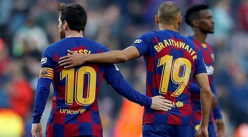 """מרטין בריית'ווייט עם ליאו מסי. """"אם כדורגל זה דת, הוא אלוהים"""". ימלא חלק מהחלל החסר? (La Liga)"""