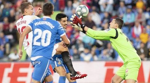 דויד סוריה קולט את הכדור (La Liga)