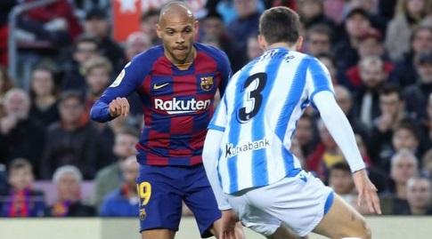 מרטין בריית'ווייט עם הכדור (La Liga)
