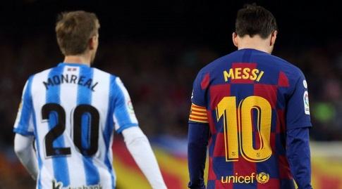 ליאו מסי עם נאצ'ו מונריאל (La Liga)
