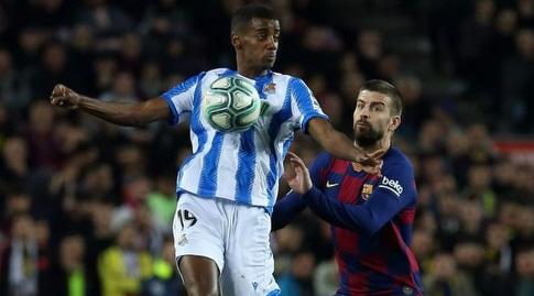 ג'רארד פיקה עם אלכסנדר איסאק (La Liga)