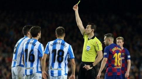 מיקל מרינו מקבל צהוב (La Liga)