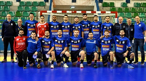 """טוביה חיים ז""""ל עם נבחרת ישראל, שני משמאל למעלה (איגוד הכדוריד)"""