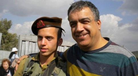 """הרצל שאול ז""""ל עם בנו אורון (פייסבוק)"""