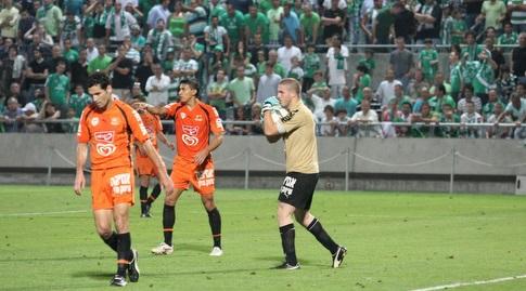 רן קדוש במשחק מול מכבי חיפה ב-2010. אירוע טראומתי לירוקים (עמית מצפה)