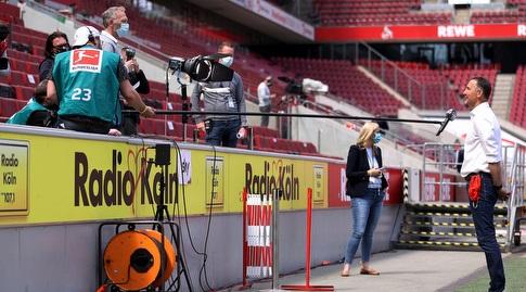 אקים ביירלורזר, מאמן מיינץ, מתראיין ממרחק (רויטרס)