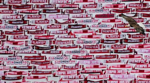 הכיסאות המקושטים באצטדיון האור (רויטרס)