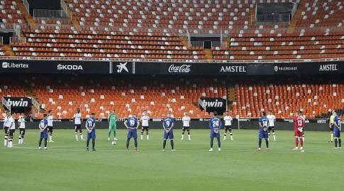 דקת דומיה לנפגעי הקורונה (La Liga)