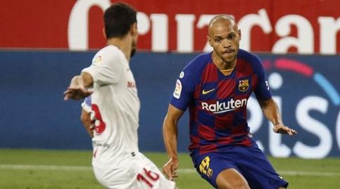 מרטין בריית'ווייט במדי ברצלונה (La Liga)