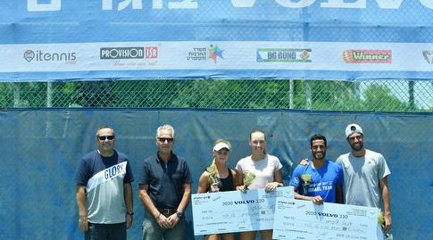 הזוכים והפייליסטים בטורניר וולוו (עמית שיסל, איגוד הטניס) (מערכת ONE)
