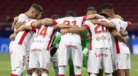 שחקני מיורקה לפני המשחק (La Liga)