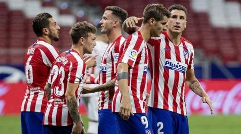 חוסה חימנס חוגג עם אלברו מוראטה (La Liga)